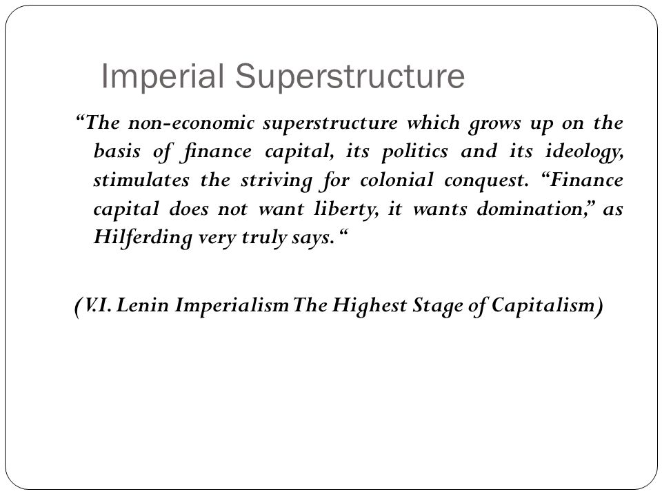 Imperial Superstructure
