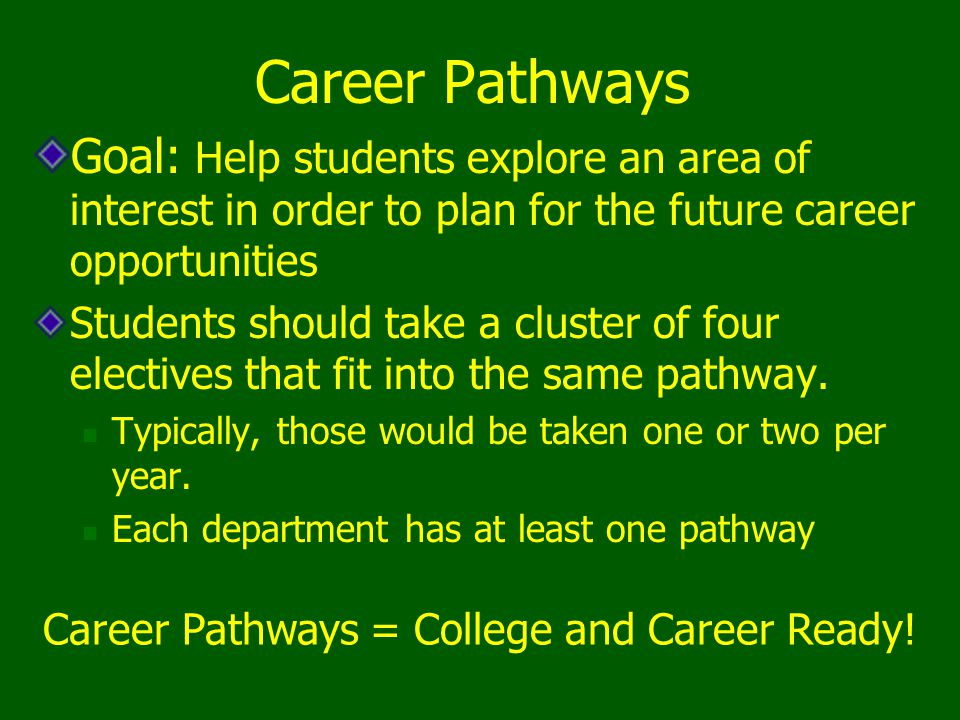 Career Pathways = College and Career Ready!