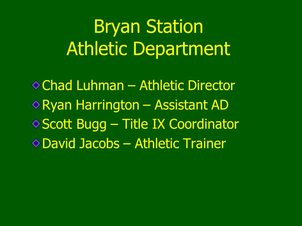 Bryan Station Athletic Department