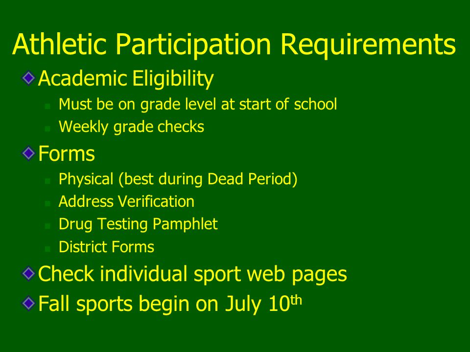 Athletic Participation Requirements