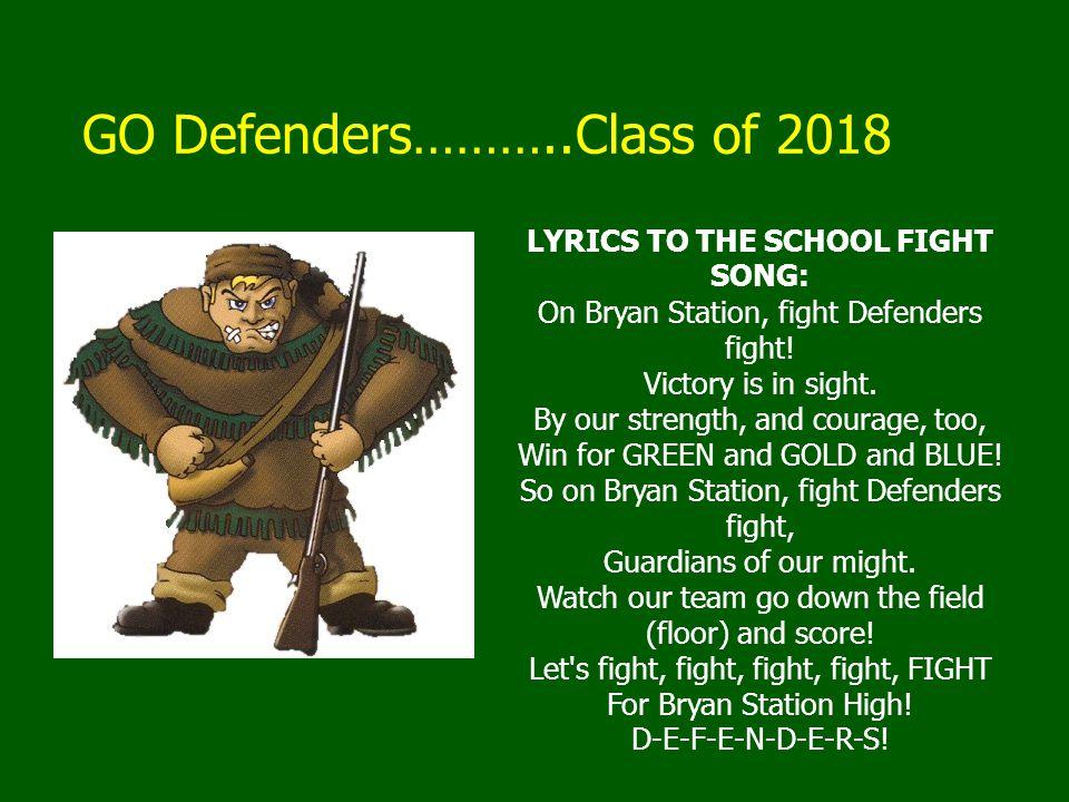 GO Defenders………..Class of 2018