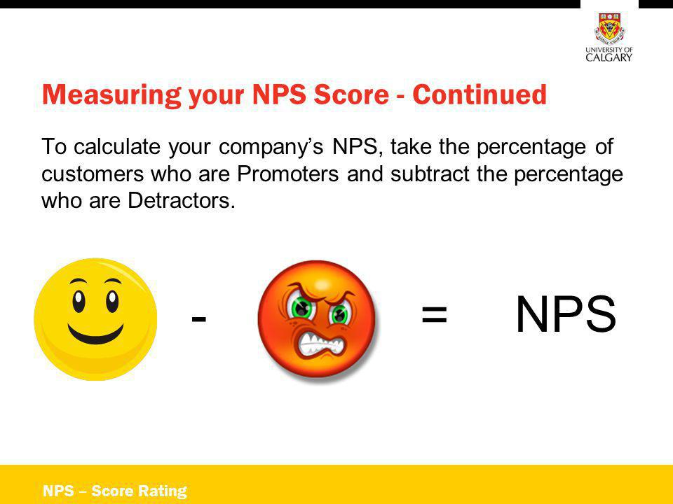 Measuring your NPS Score - Continued
