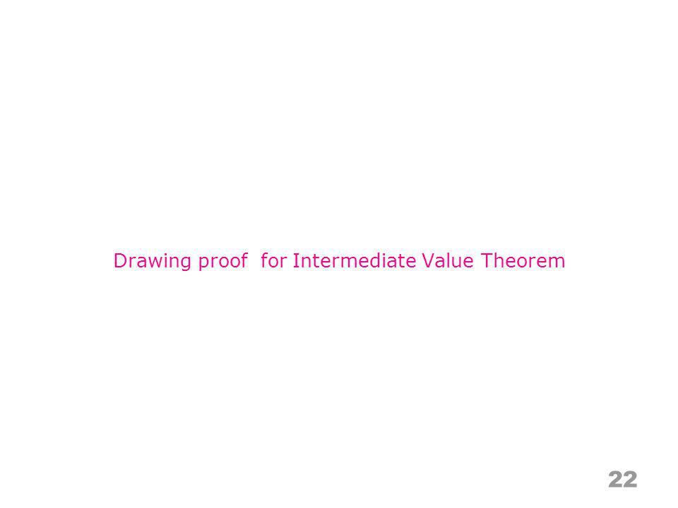 Drawing proof for Intermediate Value Theorem