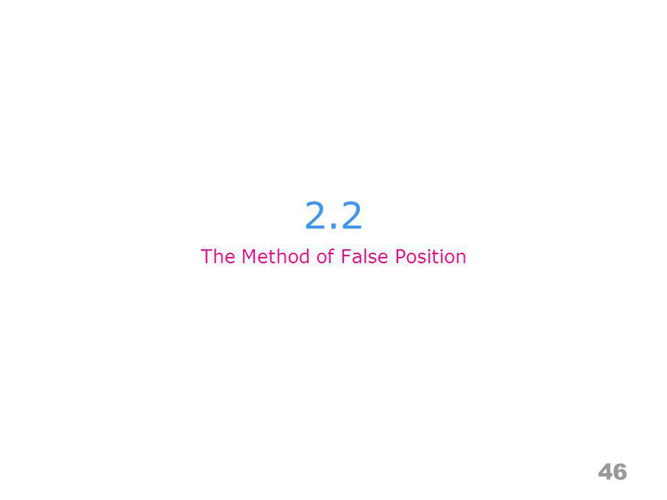 The Method of False Position