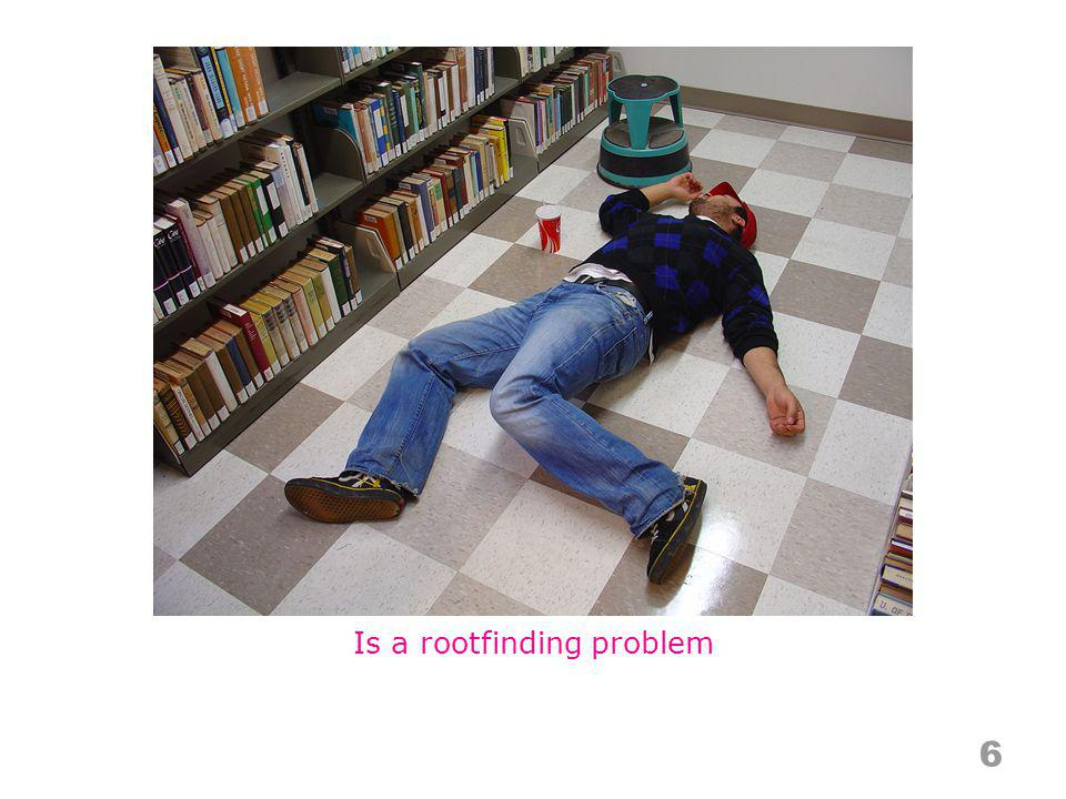Is a rootfinding problem