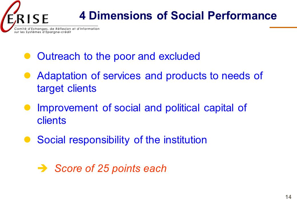 4 Dimensions of Social Performance