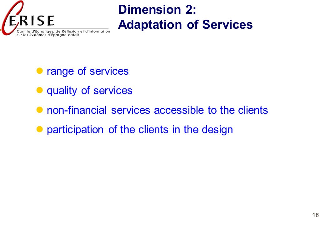 Adaptation of Services
