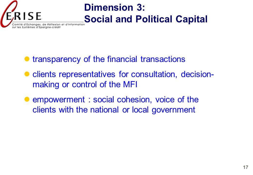 Social and Political Capital