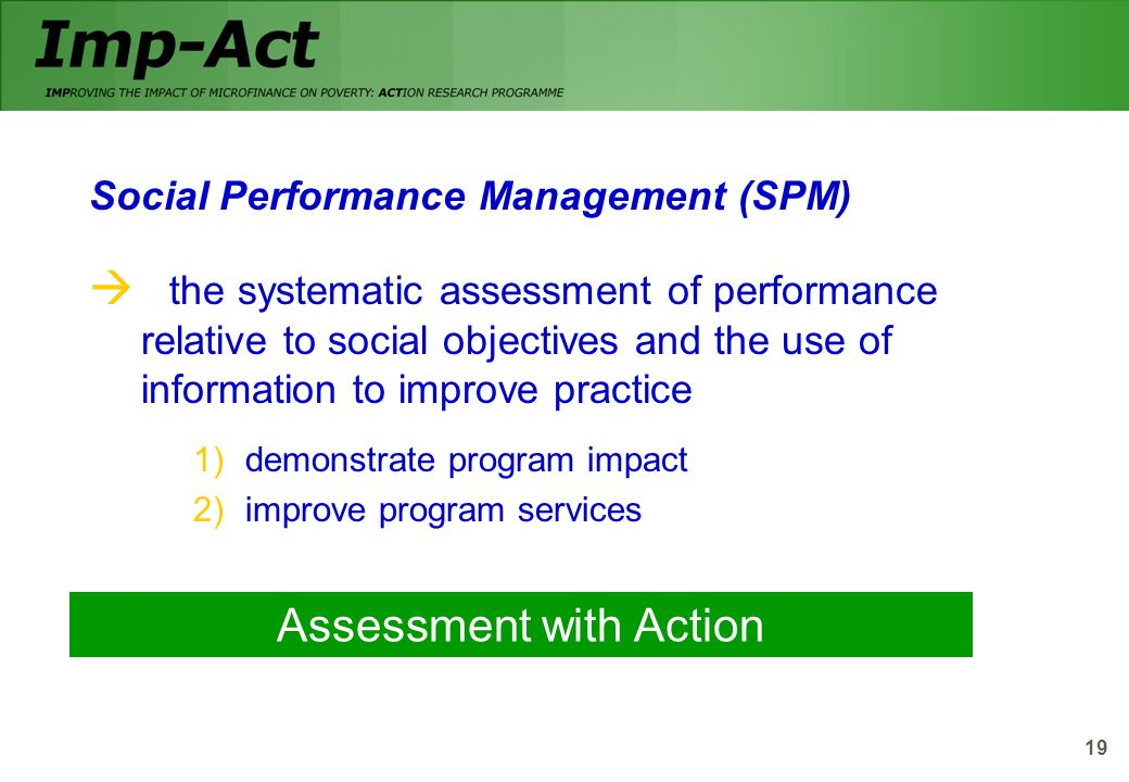 Assessment with Action