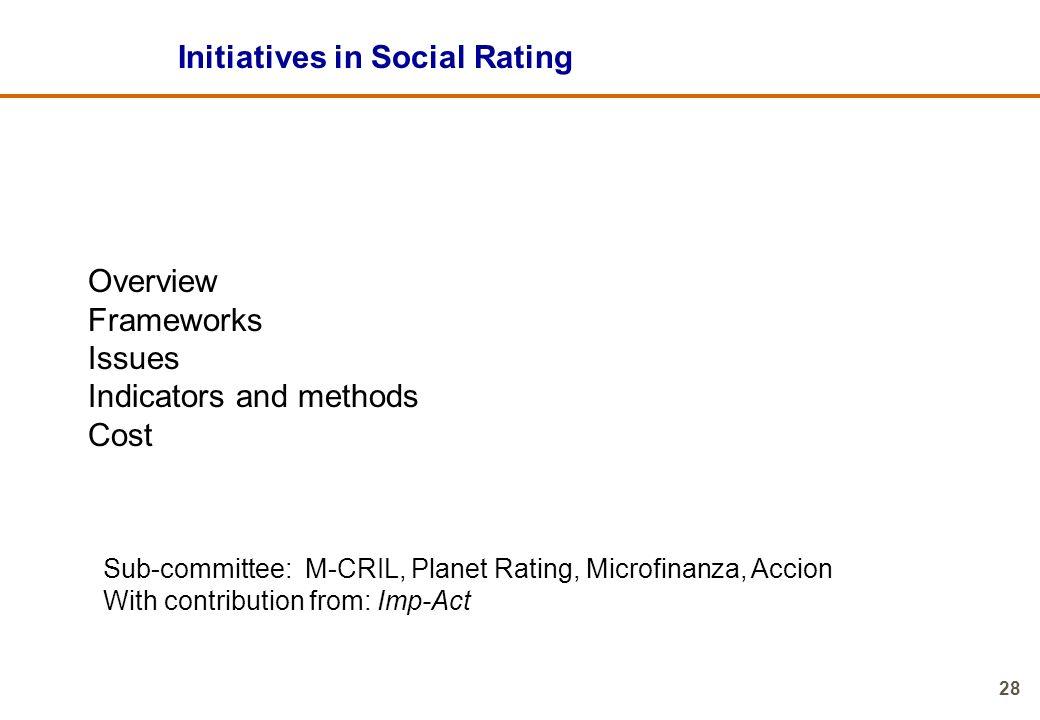 Initiatives in Social Rating