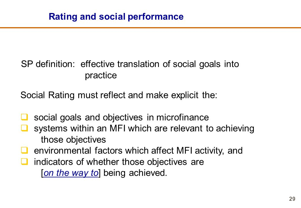 Rating and social performance