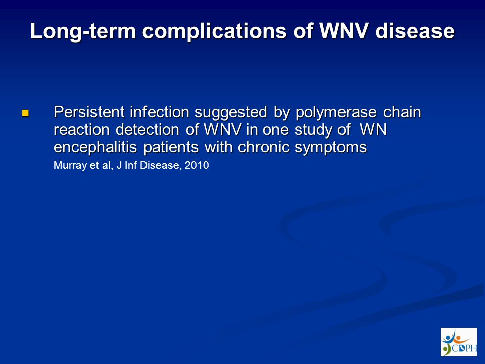 Long-term complications of WNV disease