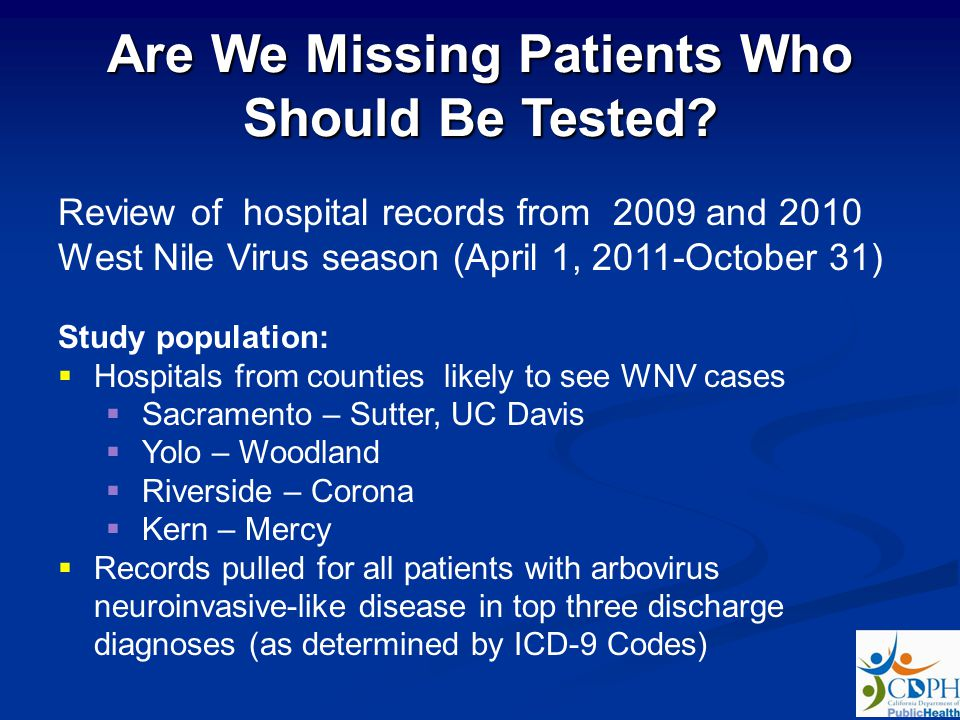 Are We Missing Patients Who Should Be Tested