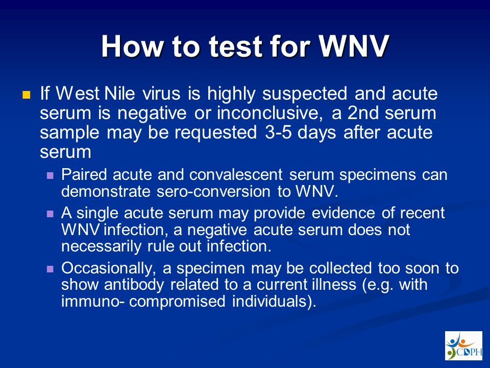 How to test for WNV