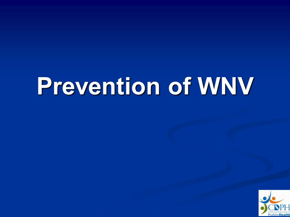 Prevention of WNV