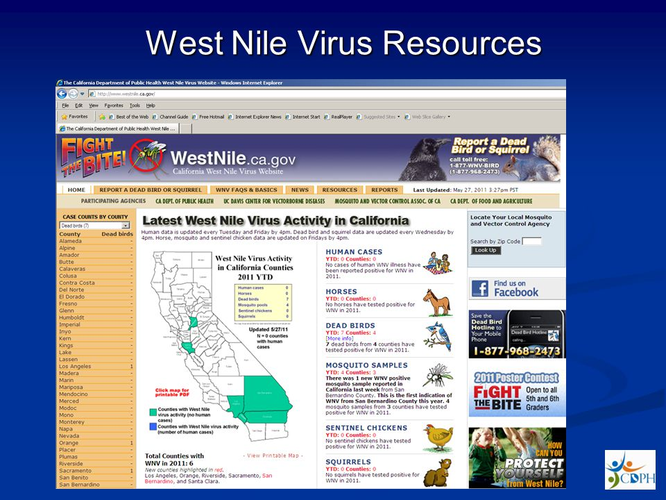 West Nile Virus Resources