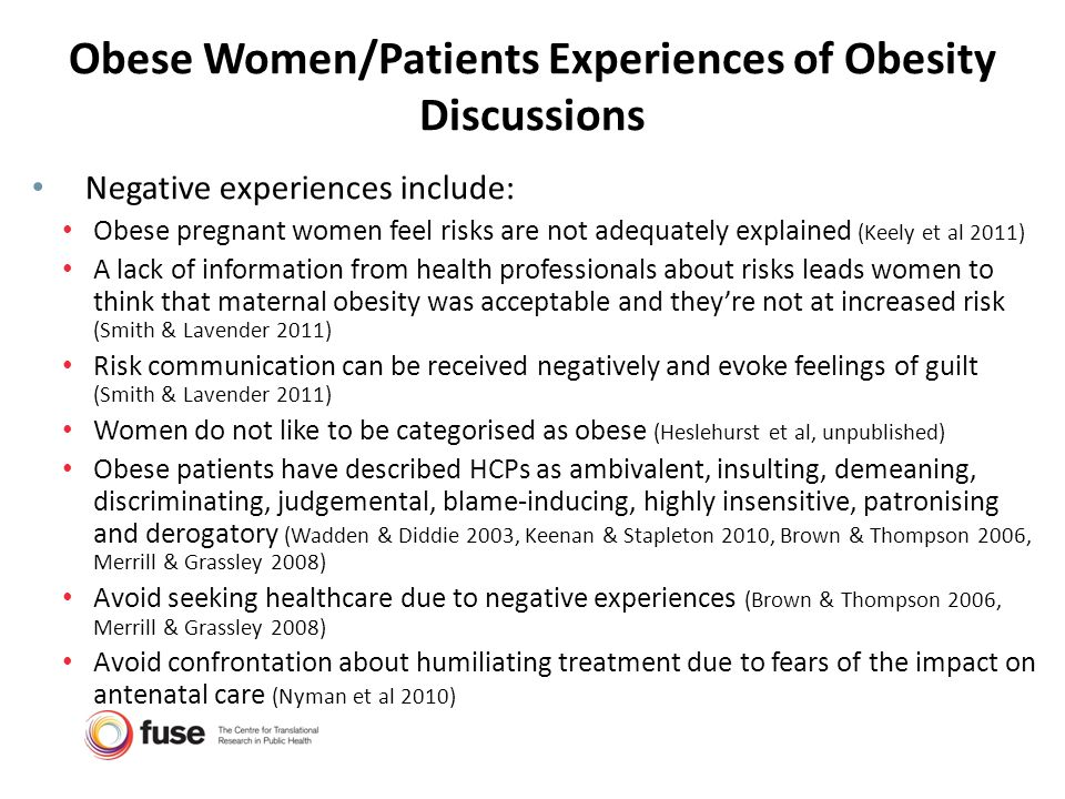 Obese Women/Patients Experiences of Obesity Discussions