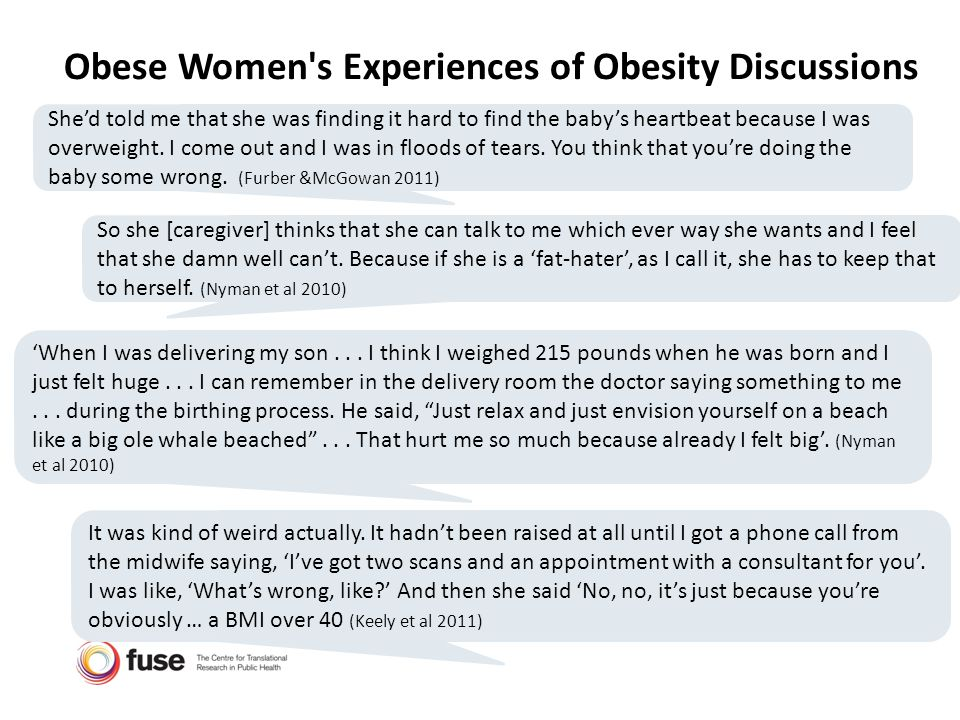 Obese Women s Experiences of Obesity Discussions