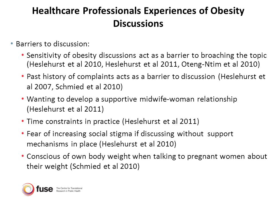 Healthcare Professionals Experiences of Obesity Discussions