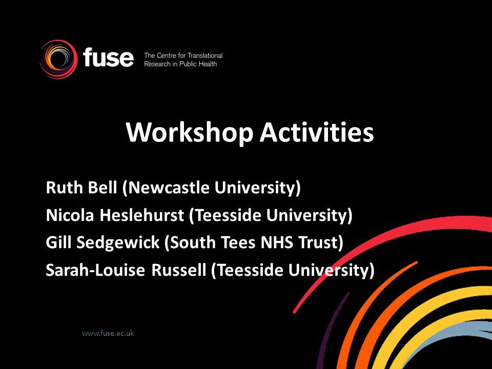 Workshop Activities Ruth Bell (Newcastle University)