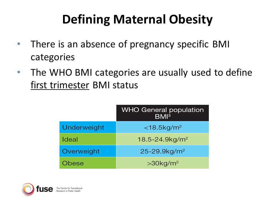 Defining Maternal Obesity