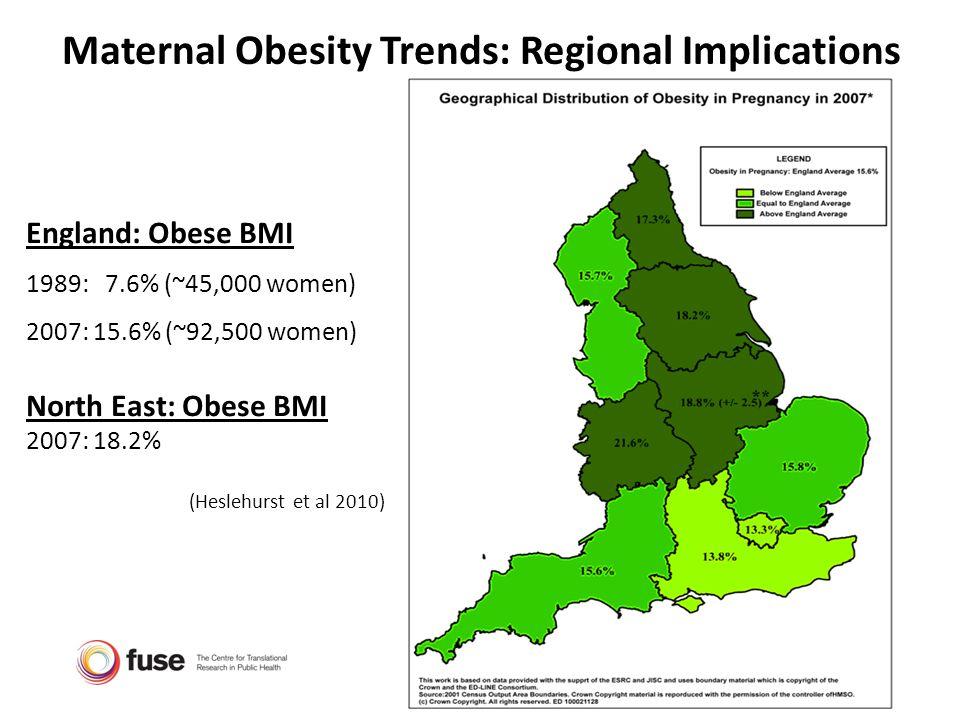 Maternal Obesity Trends: Regional Implications