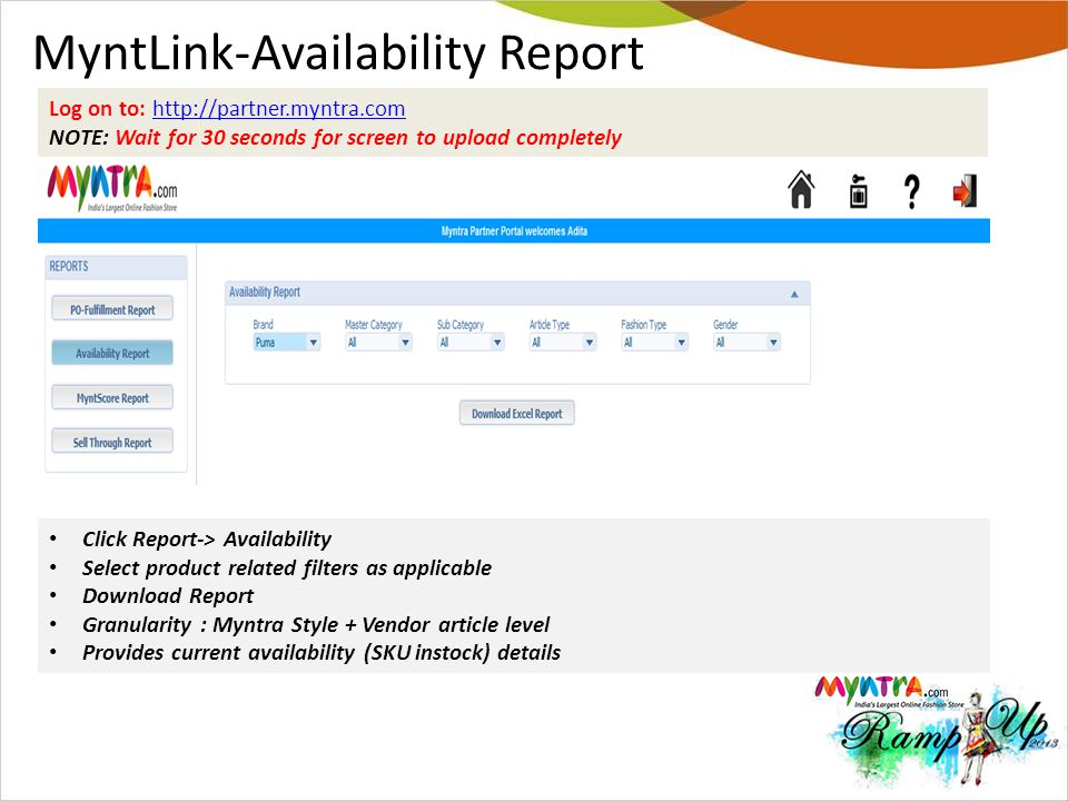 MyntLink-Availability Report
