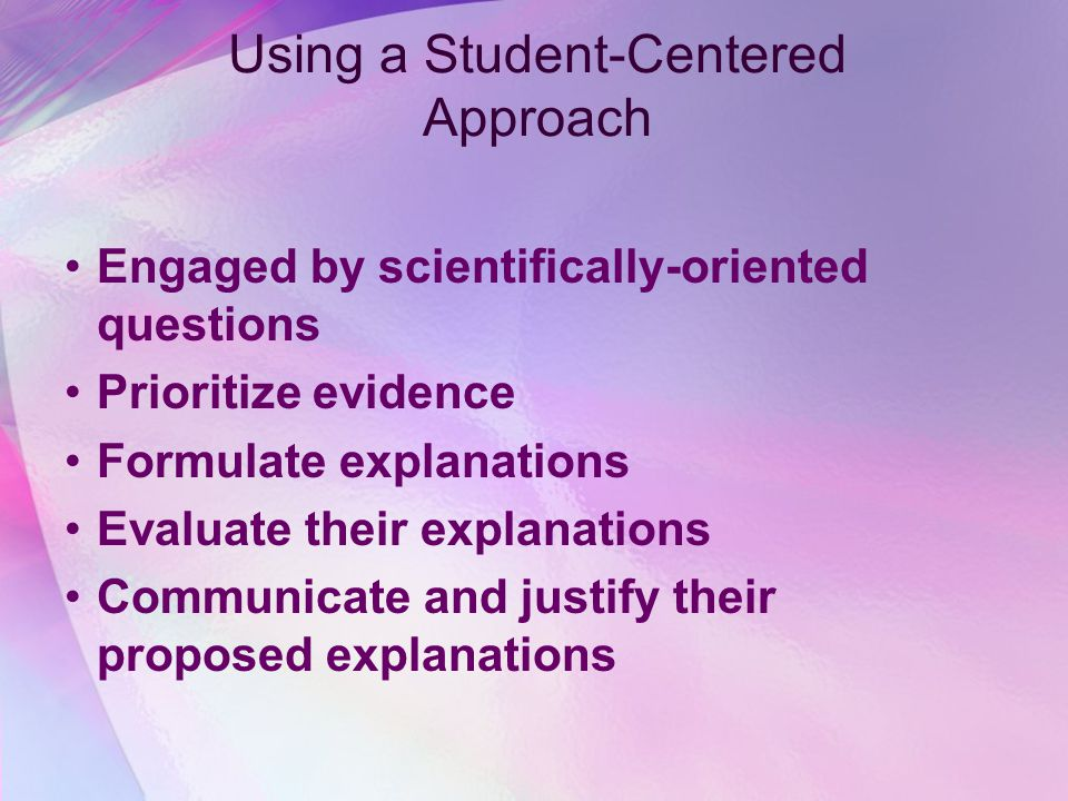 Using a Student-Centered Approach