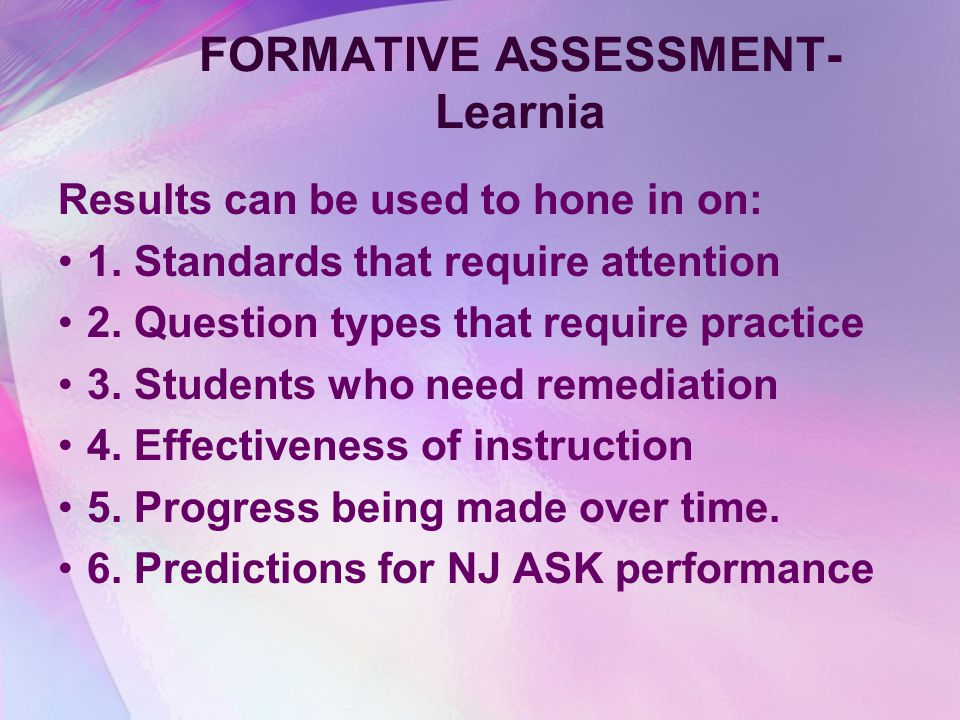 FORMATIVE ASSESSMENT- Learnia