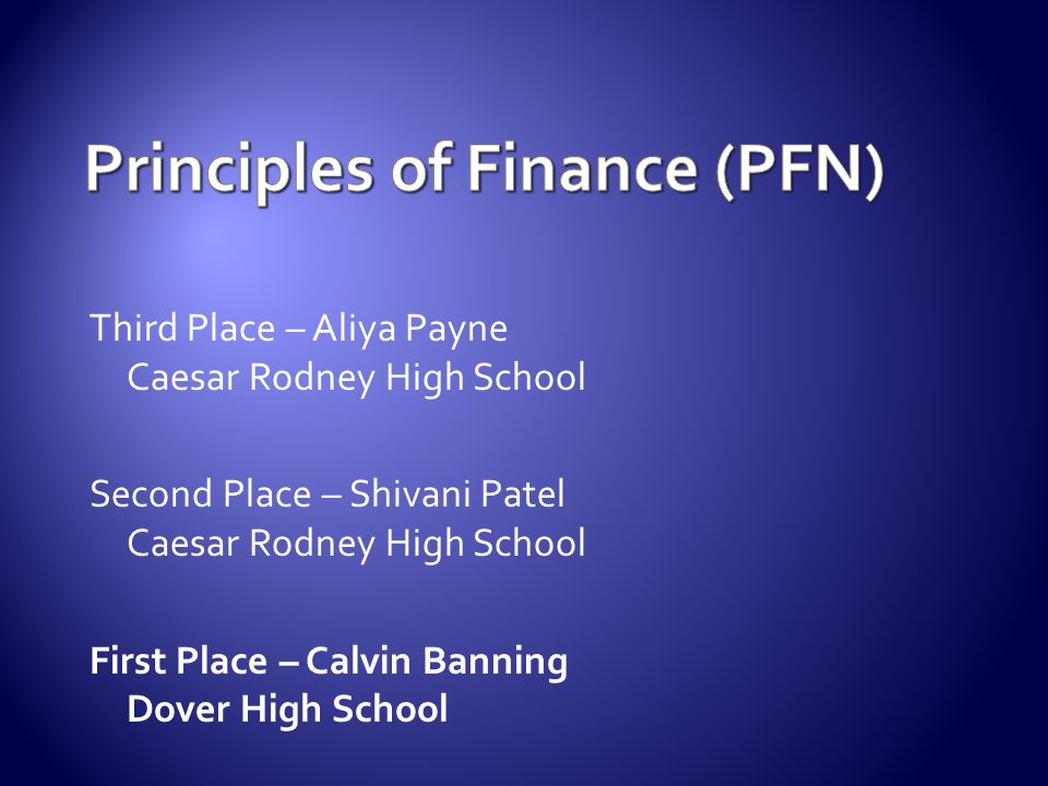 Principles of Finance (PFN)