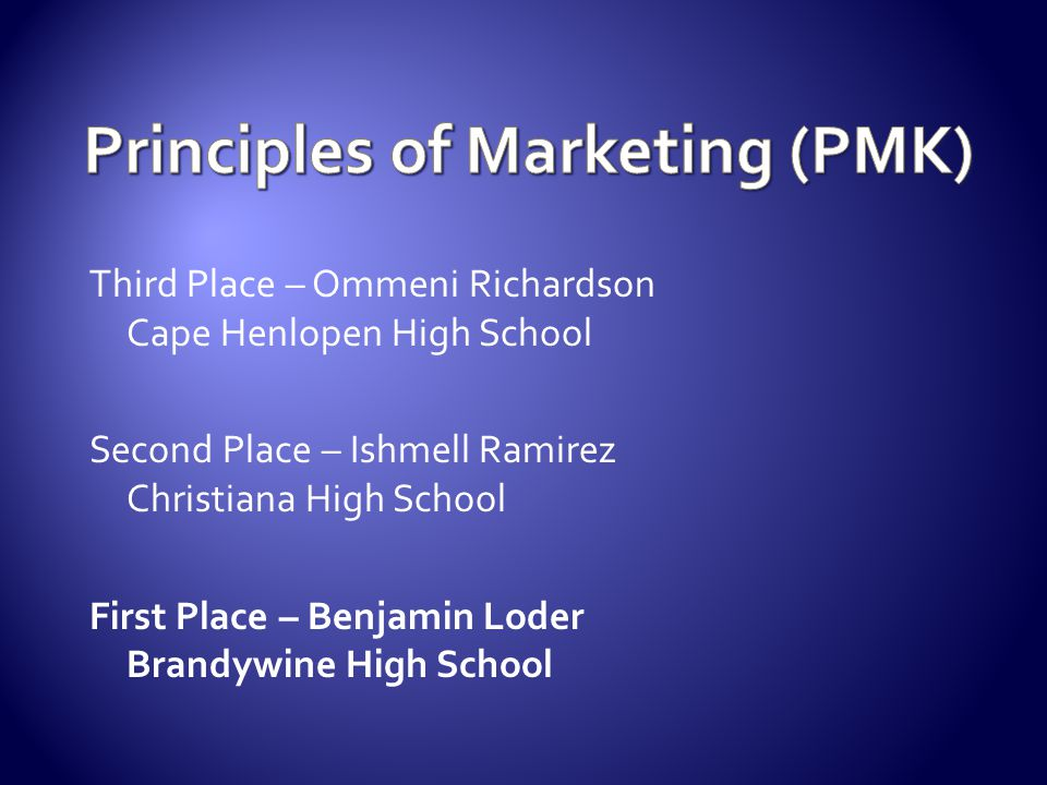 Principles of Marketing (PMK)