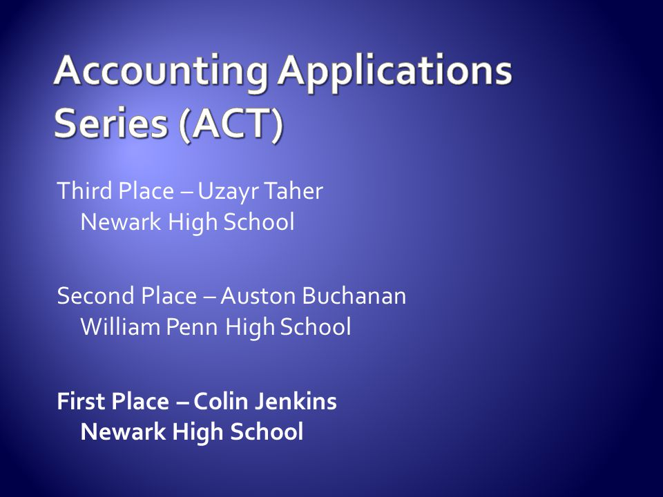 Accounting Applications Series (ACT)