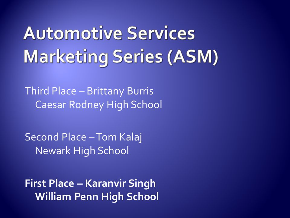 Automotive Services Marketing Series (ASM)