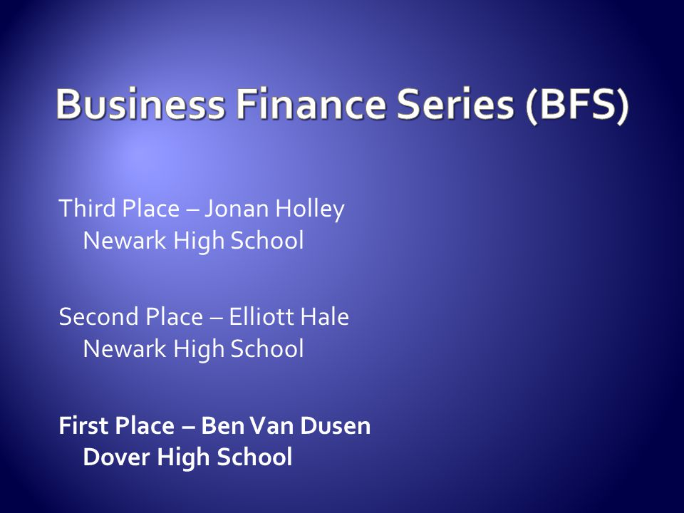 Business Finance Series (BFS)