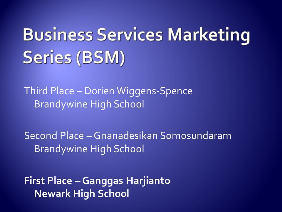 Business Services Marketing Series (BSM)
