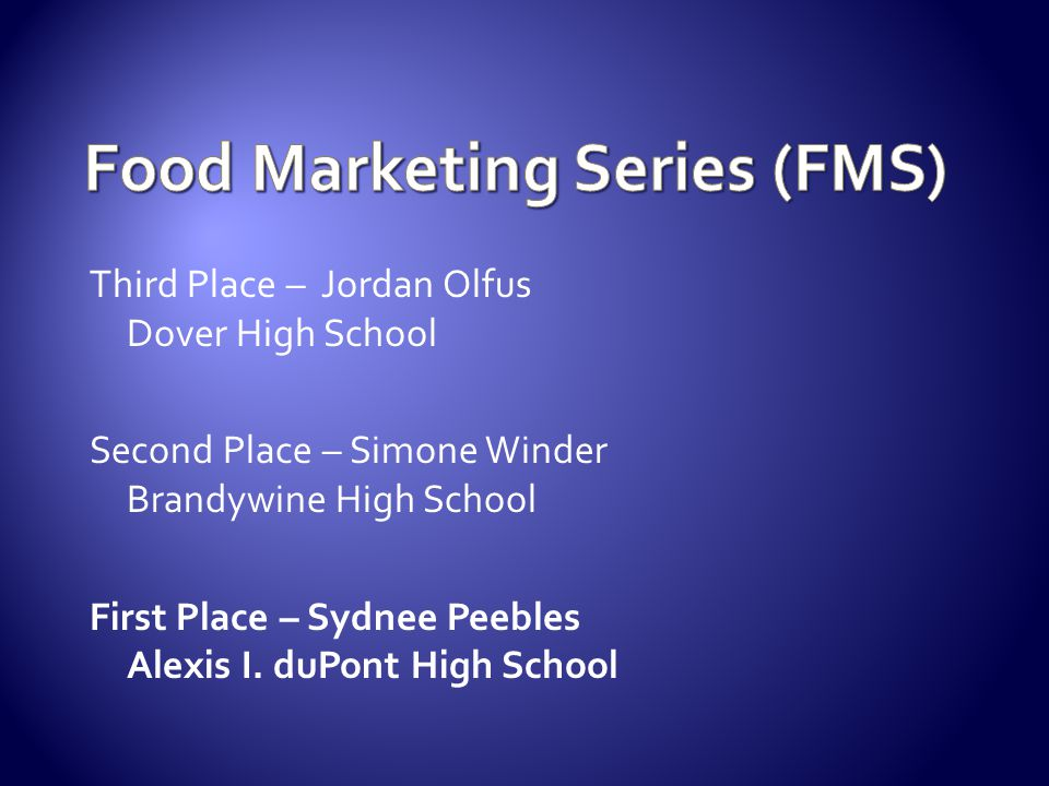 Food Marketing Series (FMS)