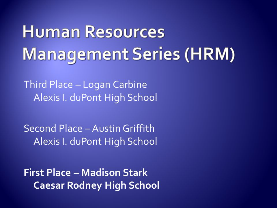 Human Resources Management Series (HRM)