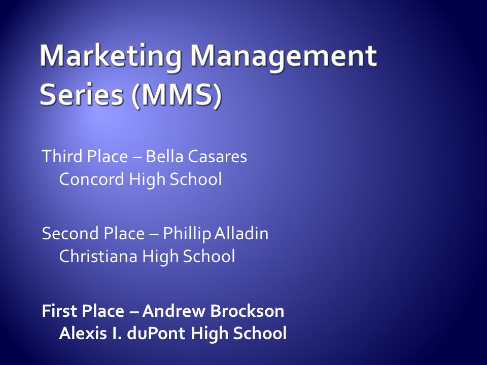 Marketing Management Series (MMS)