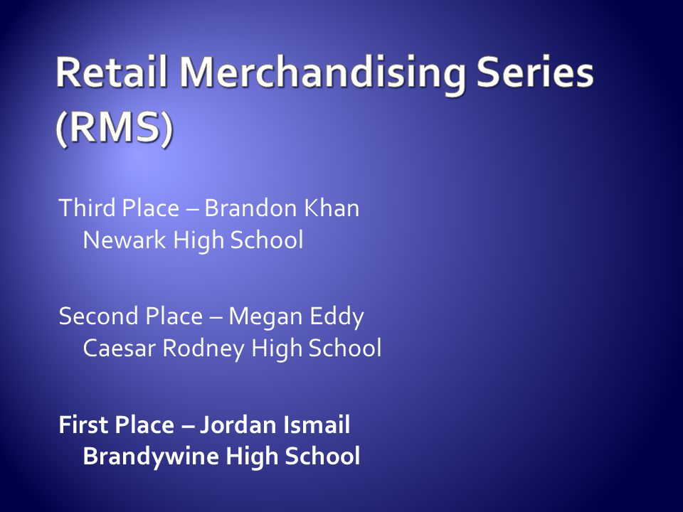 Retail Merchandising Series (RMS)