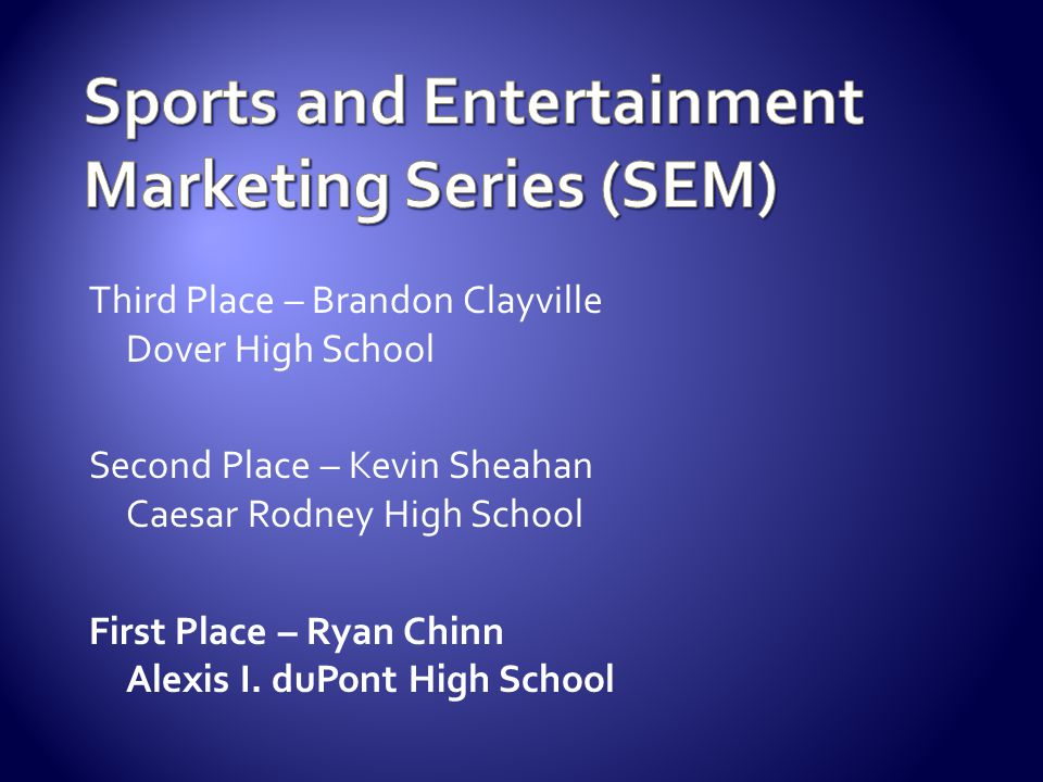 Sports and Entertainment Marketing Series (SEM)
