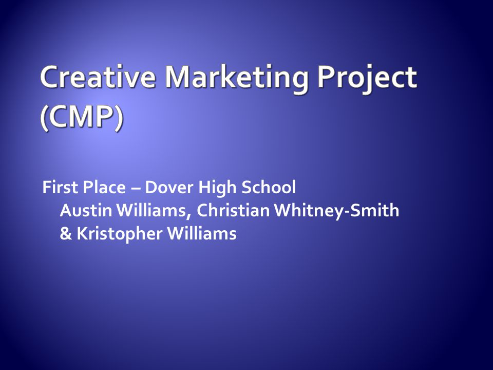 Creative Marketing Project (CMP)