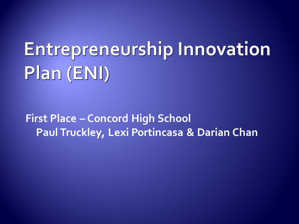 Entrepreneurship Innovation Plan (ENI)