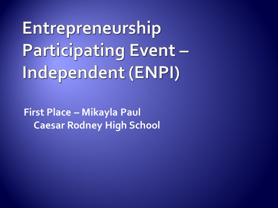Entrepreneurship Participating Event – Independent (ENPI)