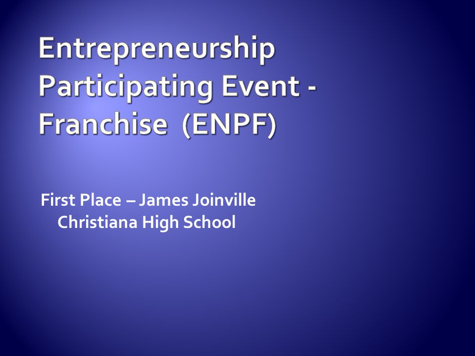 Entrepreneurship Participating Event - Franchise (ENPF)