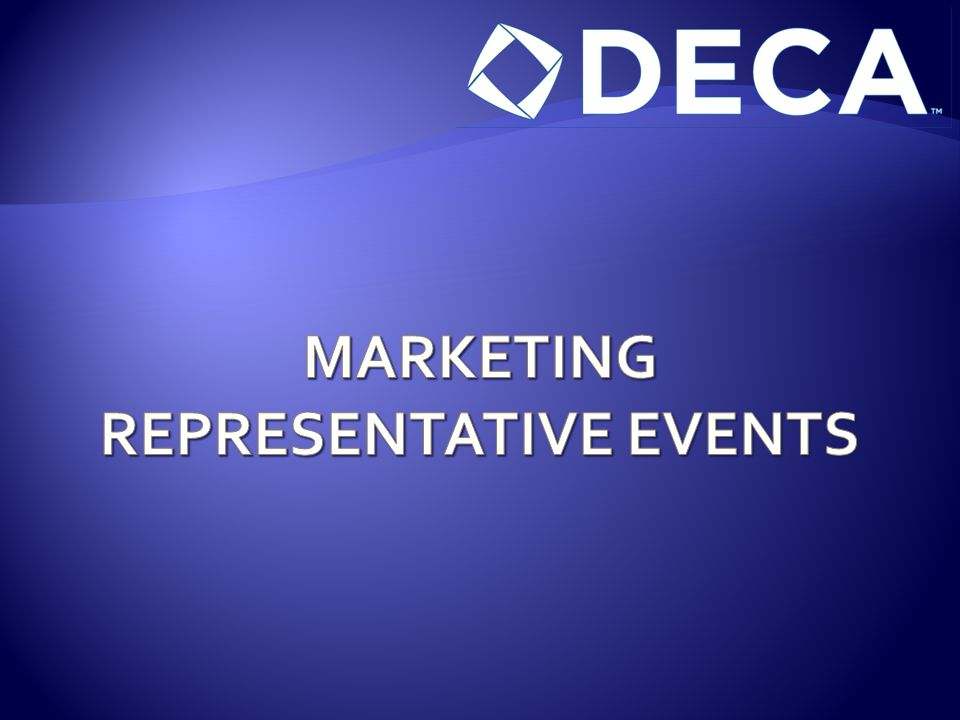 MARKETING REPRESENTATIVE EVENTS