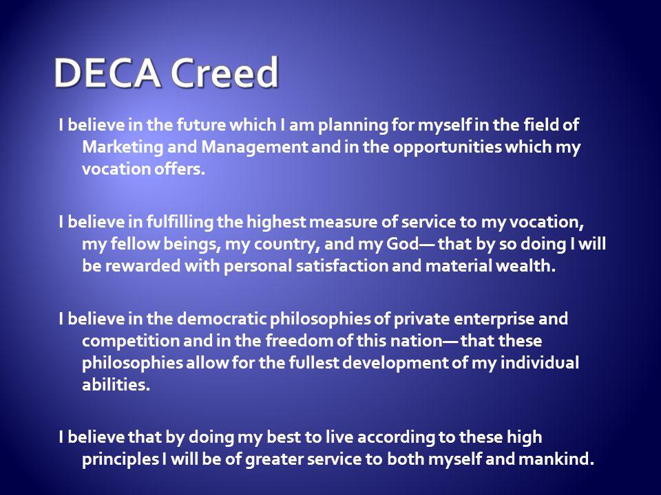 DECA Creed