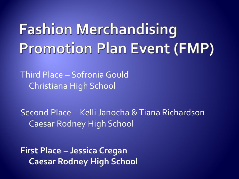 Fashion Merchandising Promotion Plan Event (FMP)
