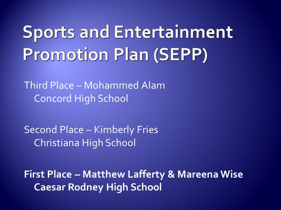 Sports and Entertainment Promotion Plan (SEPP)