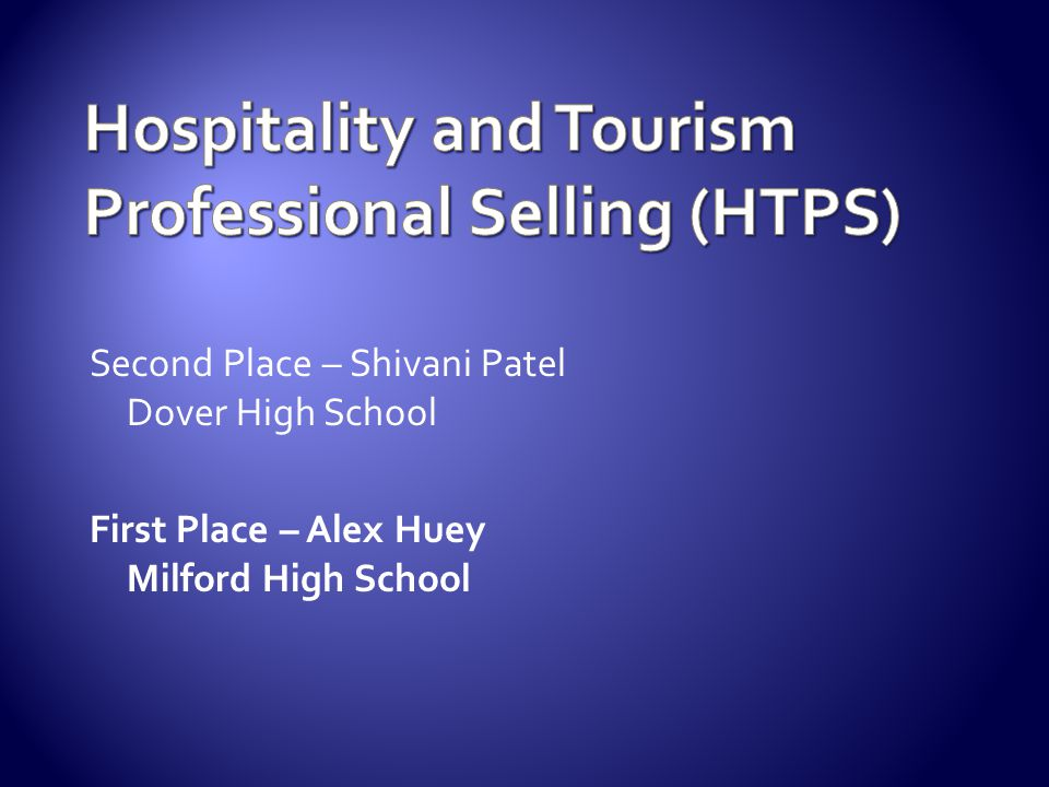 Hospitality and Tourism Professional Selling (HTPS)