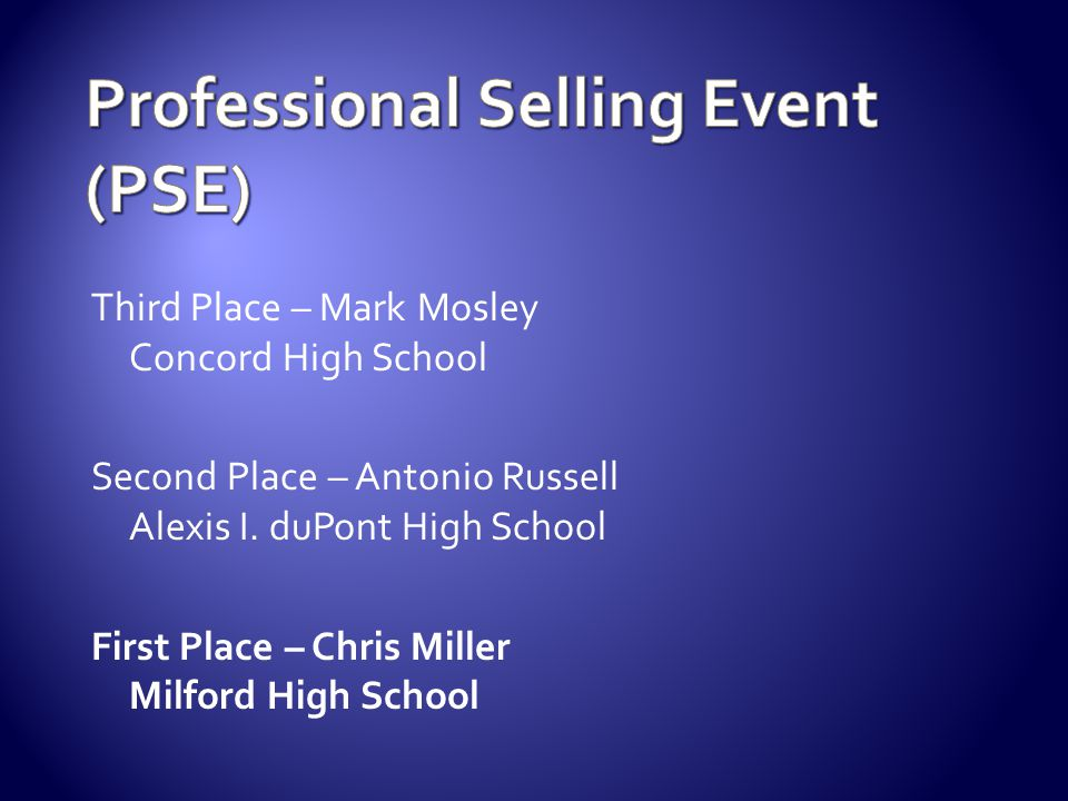 Professional Selling Event (PSE)